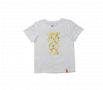 T-Shirt Kinder weiß/gold