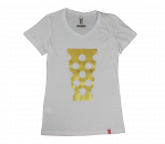T-Shirt Damen weiß/gold